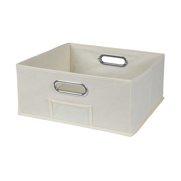Cubo Half Size Foldable Fabric Storage Bin U2013 Beige