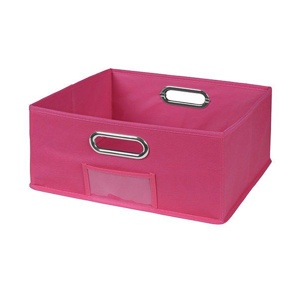 Cubo Half Size Foldable Fabric Storage Bin U2013 Pink