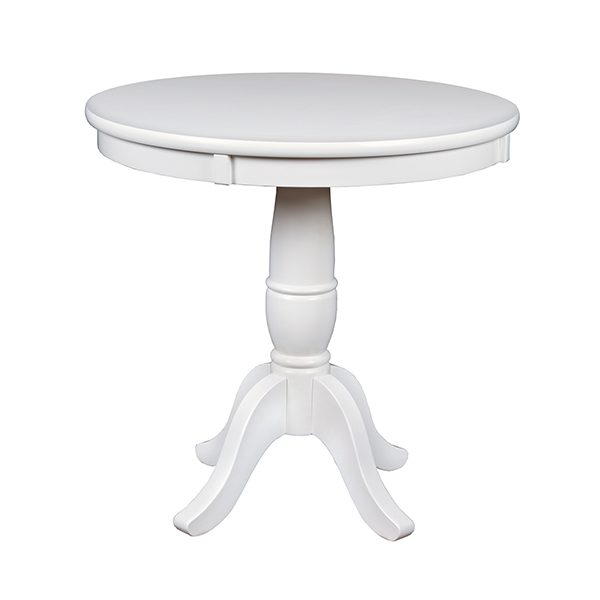 Mōd 30u2033 Round Pedestal Table U2013 White Wood Grain